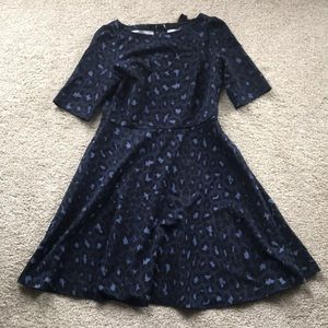 Kate spade leopard jersey dress